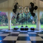 Stunning Black and White Marquees